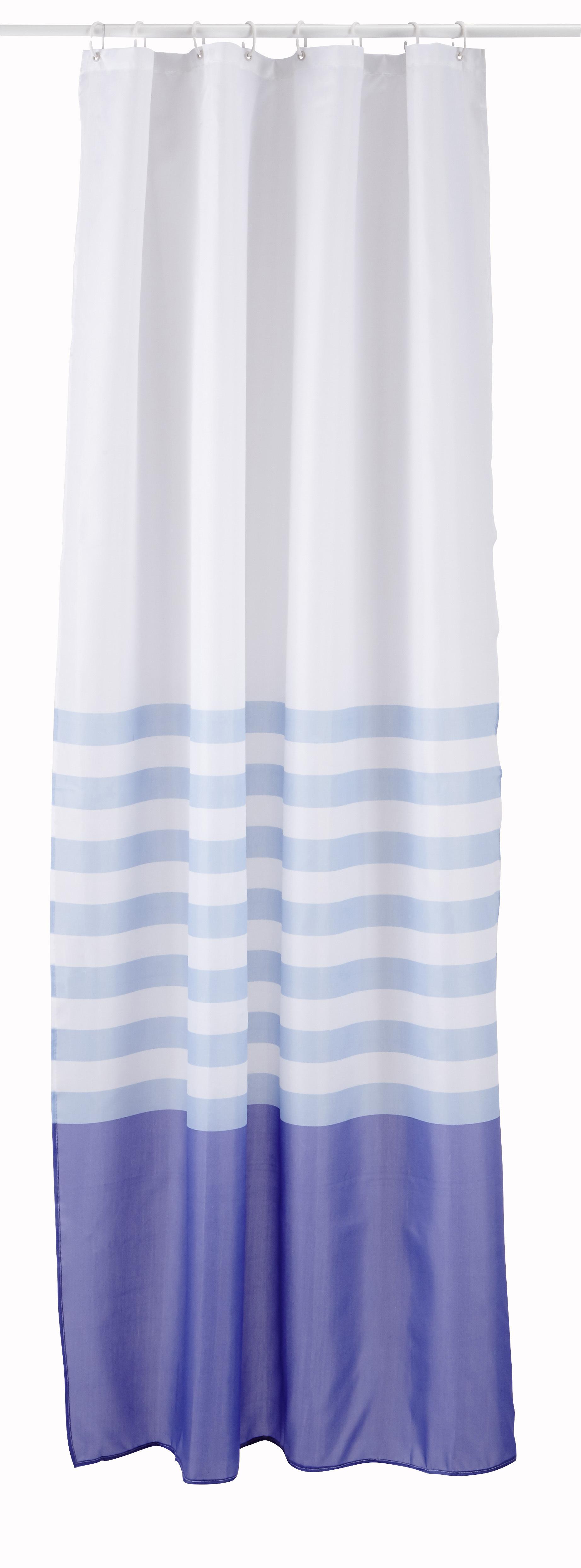 CARREFOUR - Rideau de douche tissu - 120x200 cm - Bleu dégradé ...