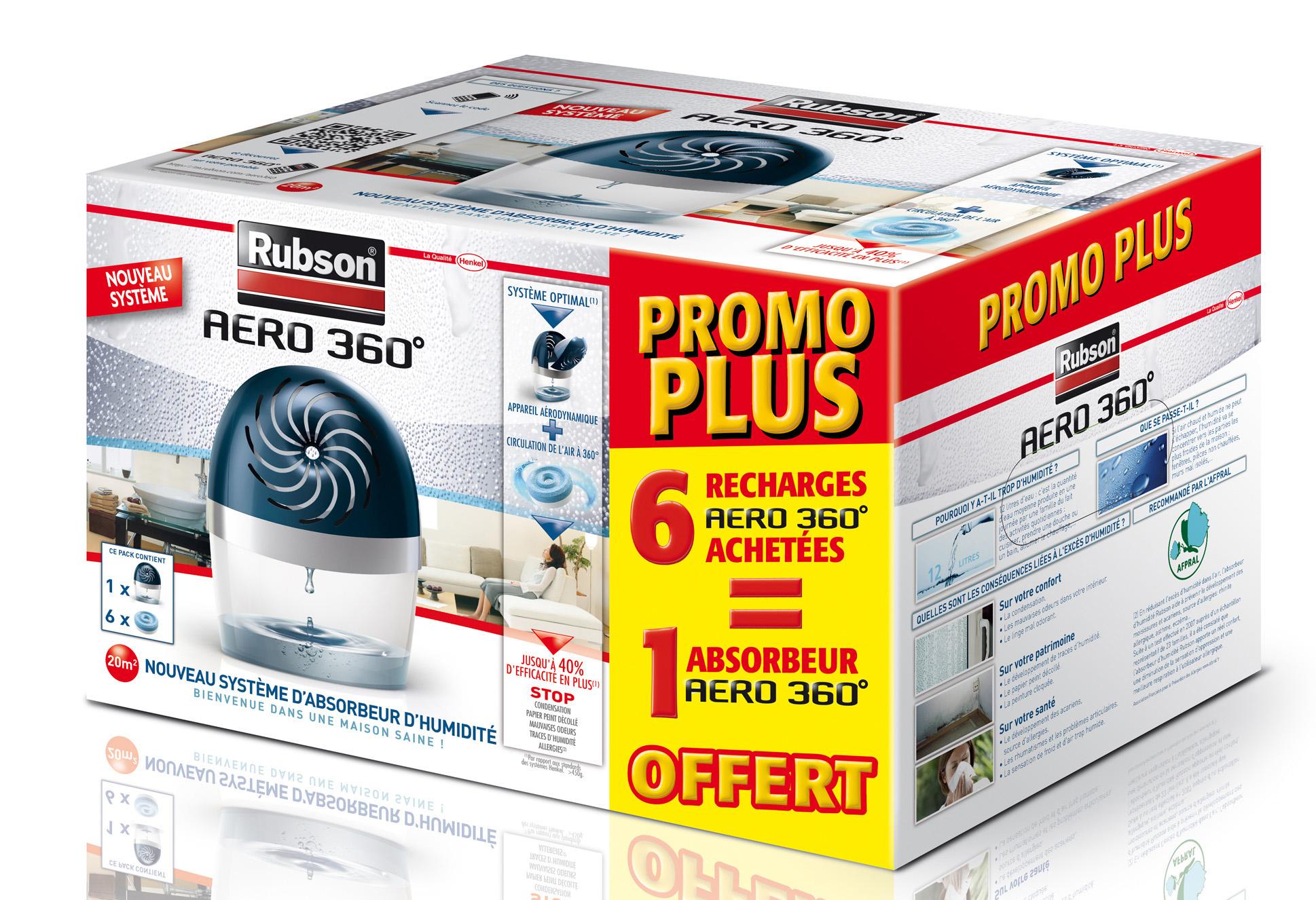 Absorbeur D Humidité Avis rubson - absorbeur d'humidité aero 360° 20 m² + 6 recharges