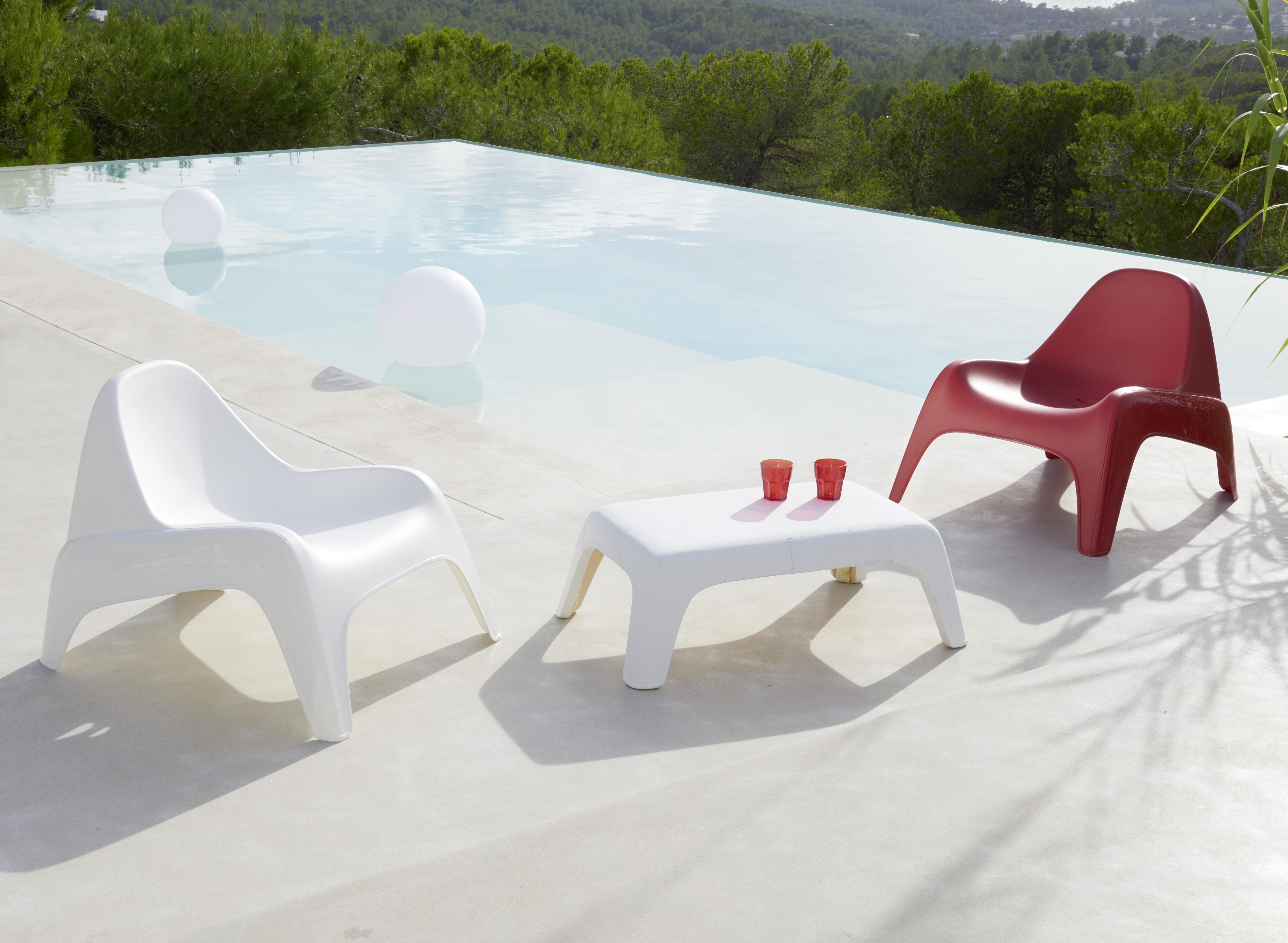 HYBA - Table basse de jardin - Blanc 32cm x 73cm x 58cm - pas cher ...