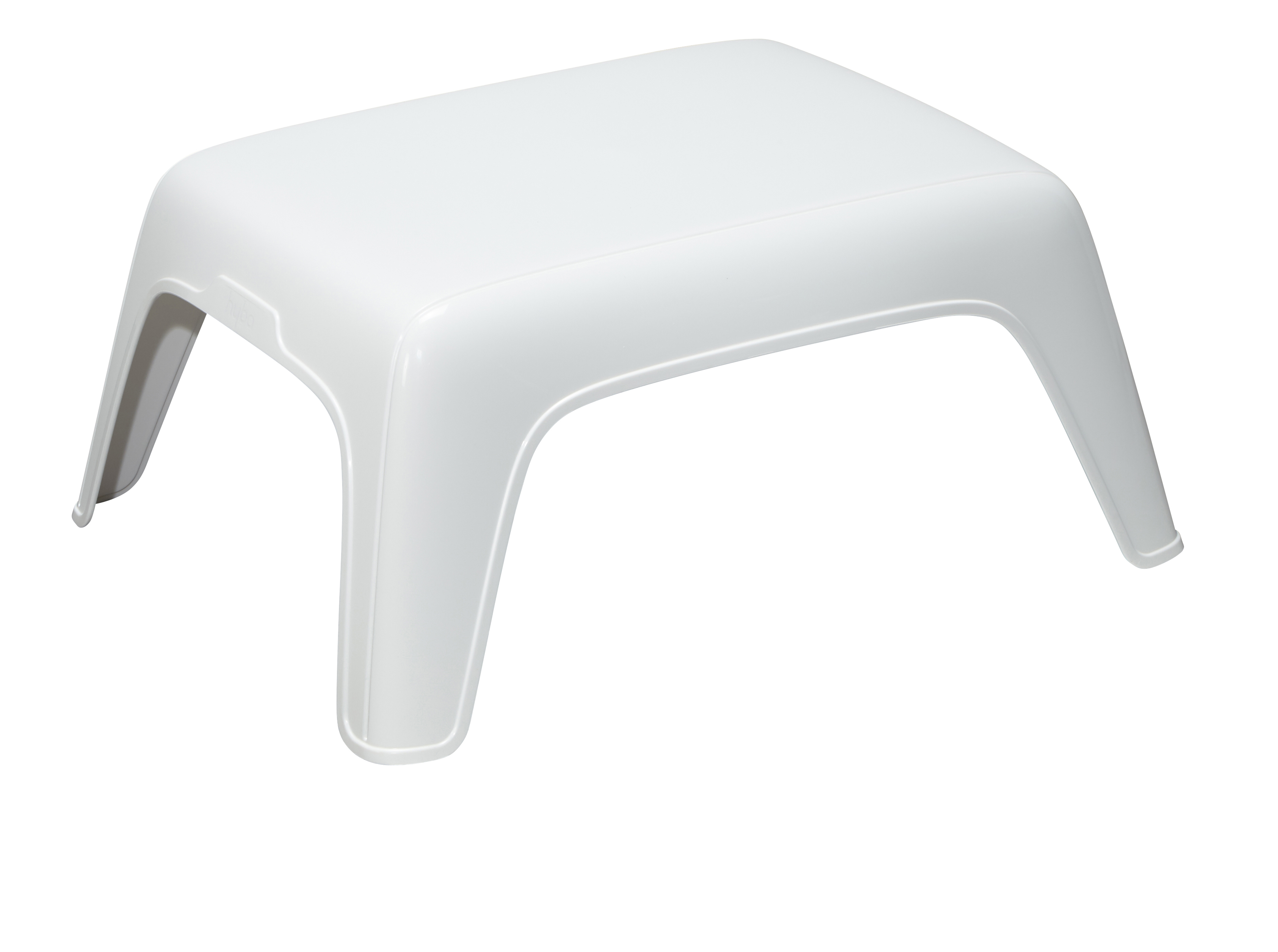 Hyba Table Basse De Jardin Blanc 73cm X 58cm X 32cm Pas Cher  # Table De Jardin Hyba