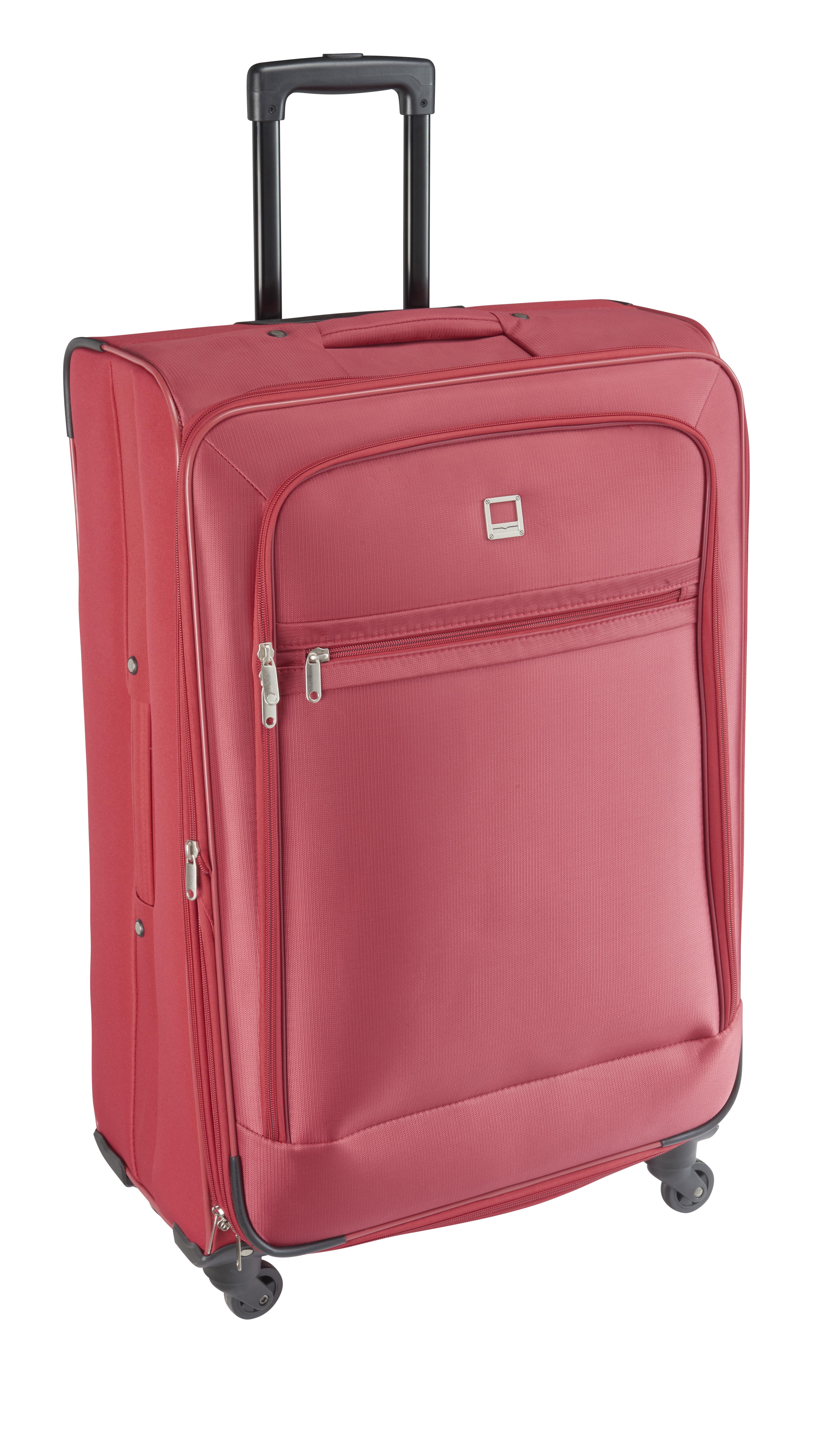 valise carrefour 4 roues Type de bagage : Valise souple. - Matière extérieure : textile 100%  polyester. - Doublure : 100% polyester. - Poids : 4,24 kg.