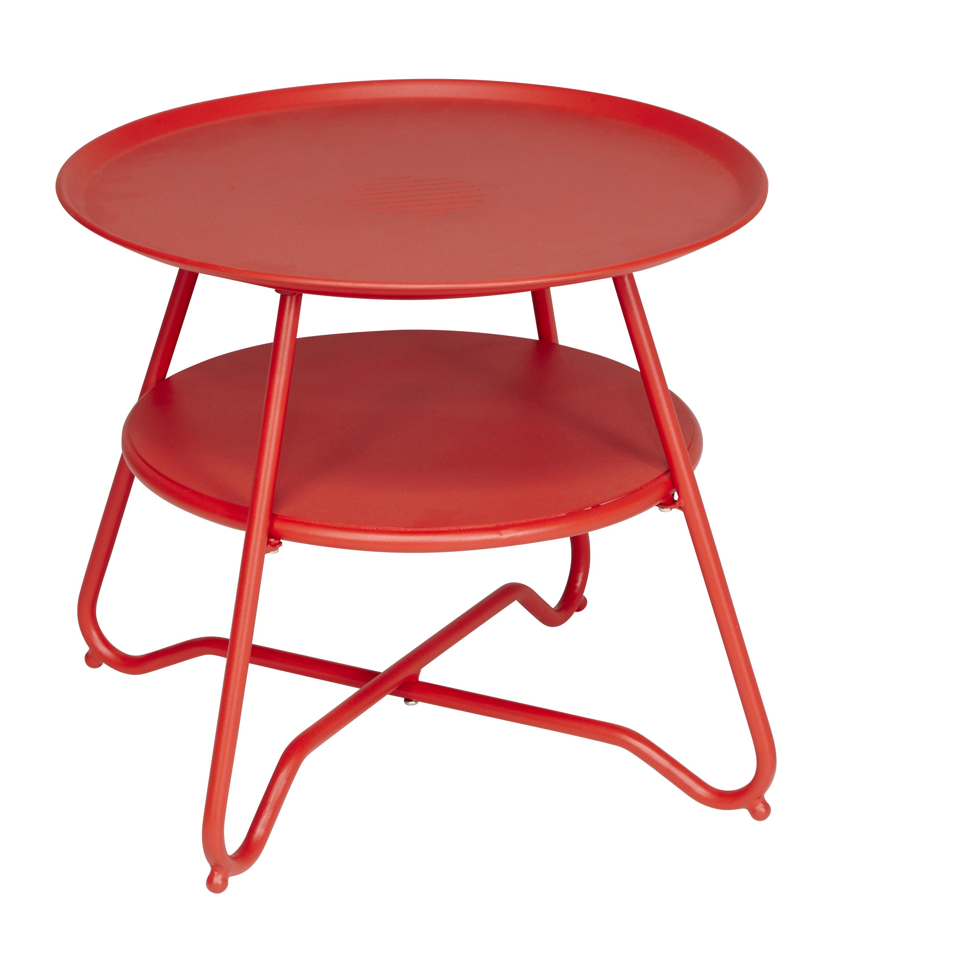 Hyba Table Basse De Jardin Alu 151 Rouge Pas Cher Achat  # Table De Jardin Hyba