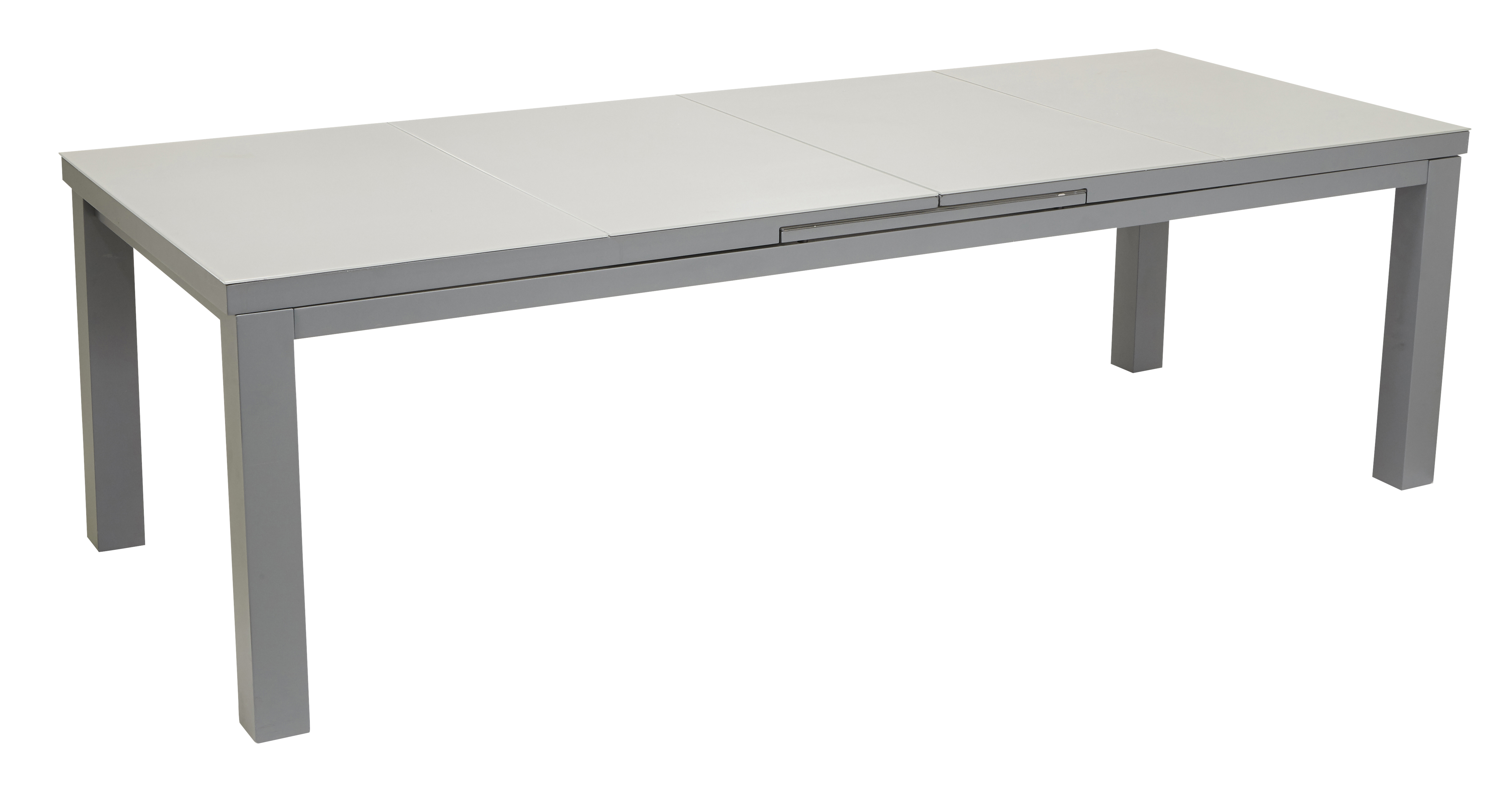 HYBA - Table Canberra allonge automatique 257/321 - Gris ...
