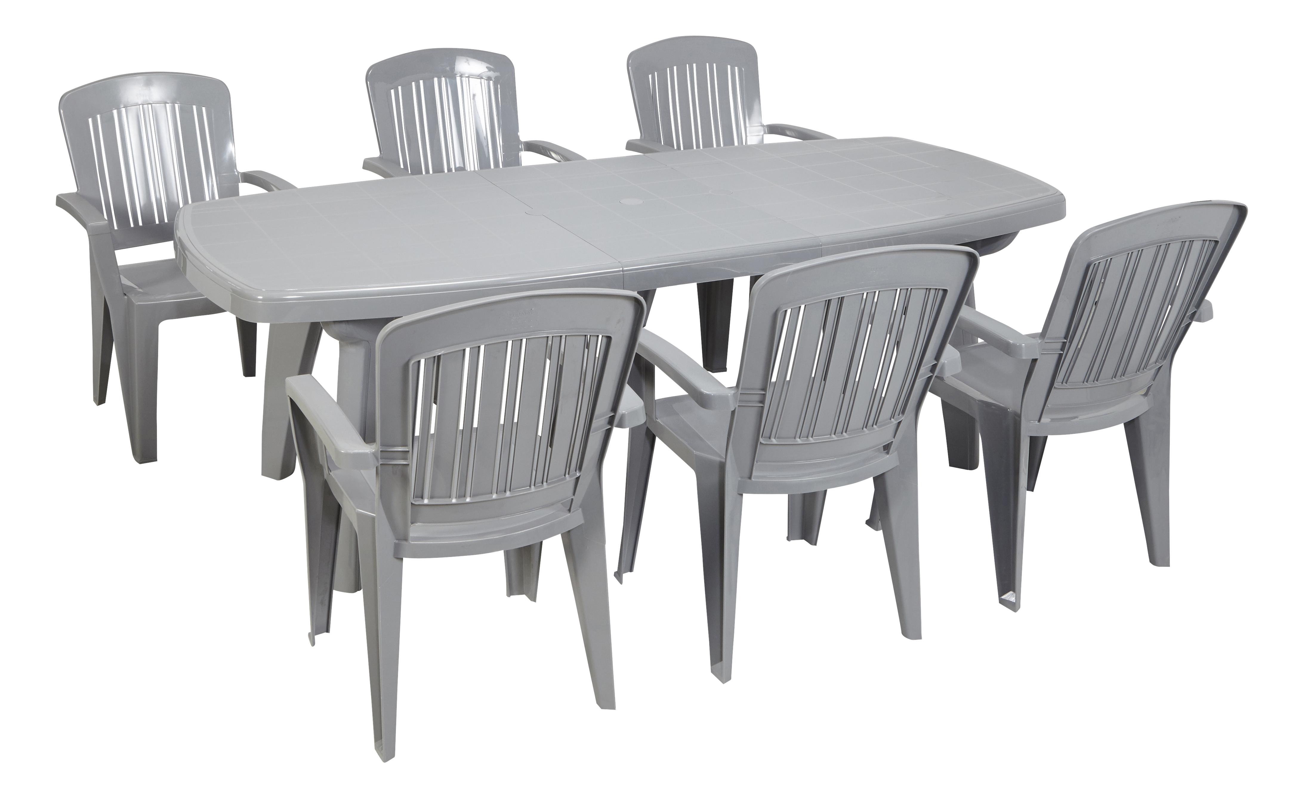 CARREFOUR - CAPRI - Table rectangulaire extensible - Gris - pas cher ...