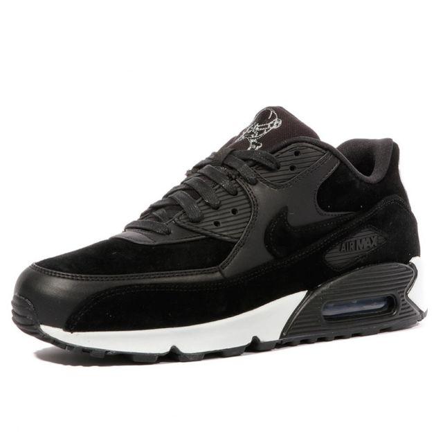 best service 6bc7f 332dd Nike - Air Max 90 Homme Chaussures Noir - pas cher Achat   Vente Baskets  homme - RueDuCommerce