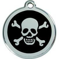 Les Animaux De La Fee - Médaille Chien Red Dingo Tete De Mort Noir 38mm