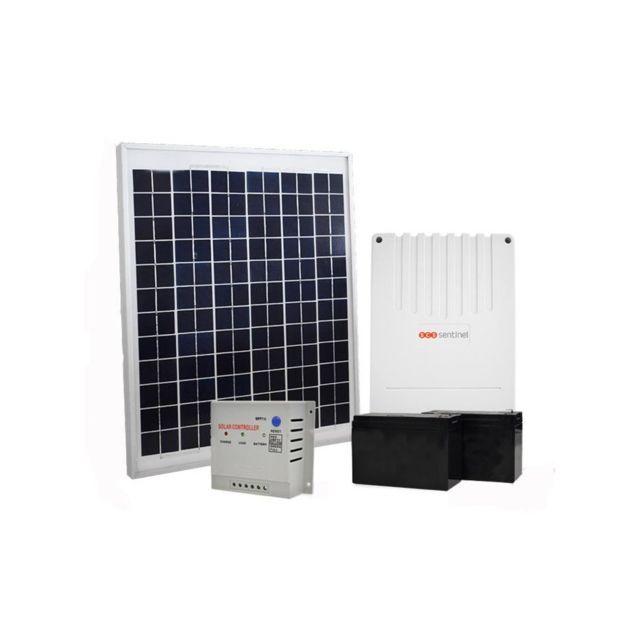 scs sentinel kit solaire pour motorisation de portail et garage 20 w pas cher achat vente. Black Bedroom Furniture Sets. Home Design Ideas