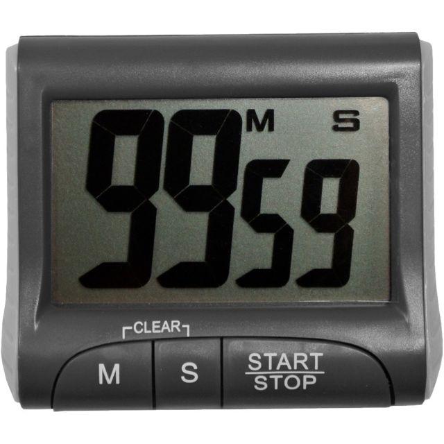 Promobo Minuteur Magnet Cadran Digital Design Timer Electronique Cuisine Gris