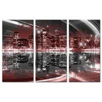 Declina - Tableau triptyque photo skyline de New York en toile imprimée