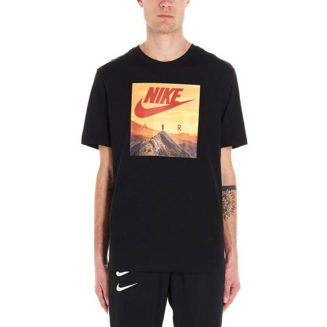 NIKE Homme Ck4280010 Noir Coton T-shirt