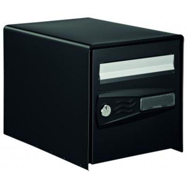 bricorama boite aux lettres double face noire pas cher achat vente bo te aux lettres. Black Bedroom Furniture Sets. Home Design Ideas