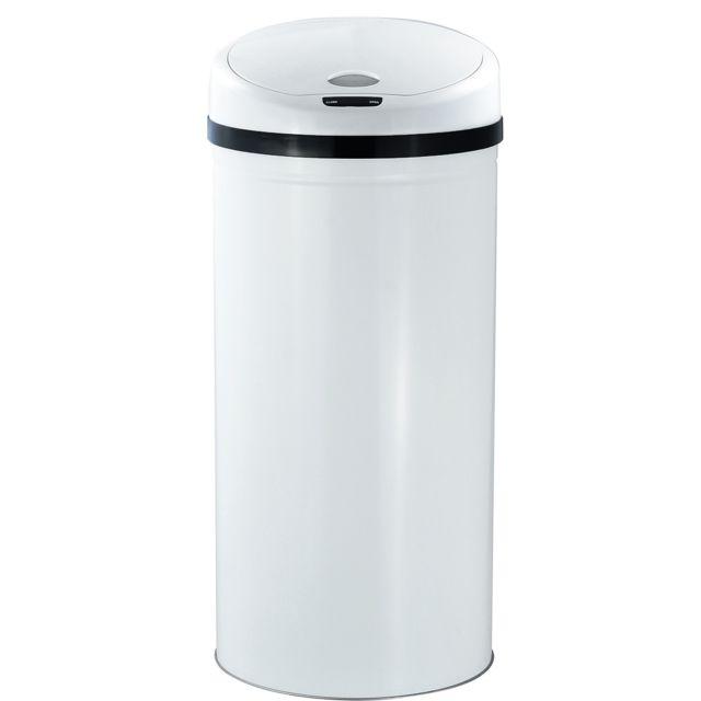 ROBBY poubelle à ouverture automatique 50l blanche - upsense blanc 50l