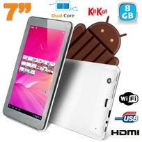 Yonis - Tablette tactile Android 4.4 KitKat 7 pouces Dual Core Blanc 8Go