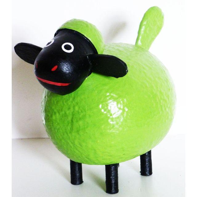 Les Animaux De La Fee Mouton déco Color taille M Vert
