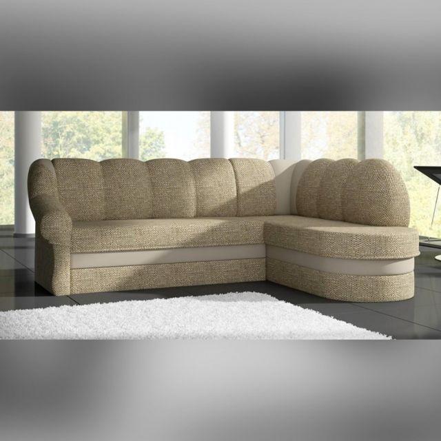 Meubler Design Canapé d'angle droit convertible Berkley