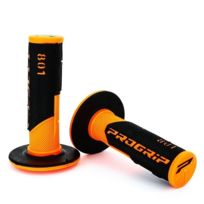 Progrip - Poignée 801 - Noir/Orange - Dirt bike / Pit bike / Mini Moto