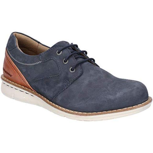 Hush Puppies Chaussures Chase - Homme 44.5 Fr, Bleu marine / marron Utfs6076