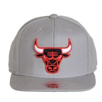 Mitchell And Ness - Casquette Wool Solid Chicago Bulls Gris