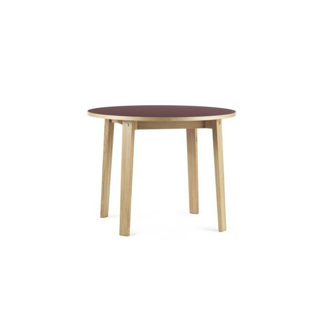 Normann Copenhagen Table Slice Linoléum - Ø 95 cm - bordeaux