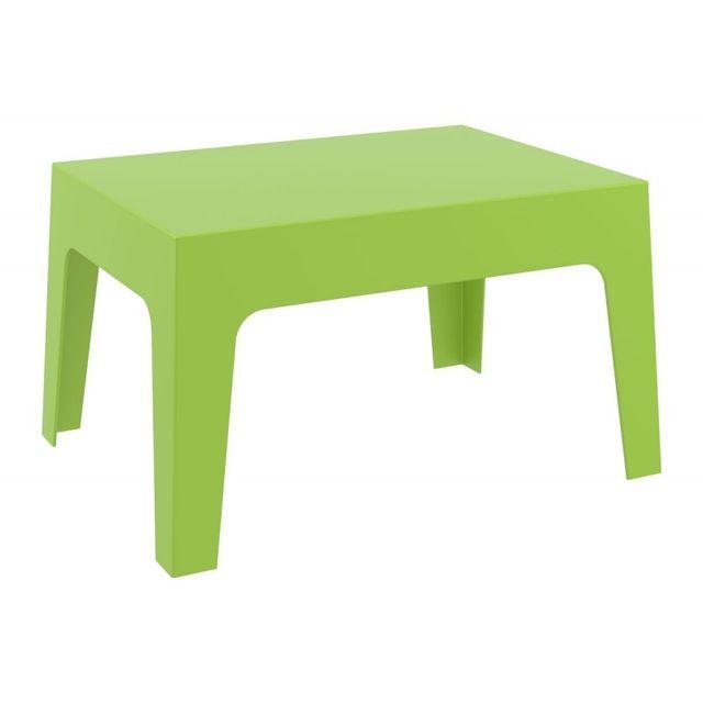 Decoshop26 - Table basse de jardin en plastique vert 50x70x43 cm ...