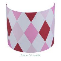 Little Dutch - Applique 24 x 20 cm - Lozenge Rouge / Rose