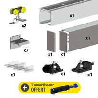 rail pour porte coulissante en applique achat rail pour porte coulissante en applique pas cher. Black Bedroom Furniture Sets. Home Design Ideas