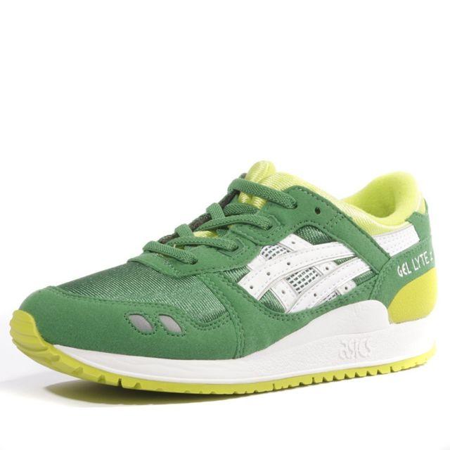 Asics Gel Lyte Iii Ps Garçon Chaussures Vert Multicouleur