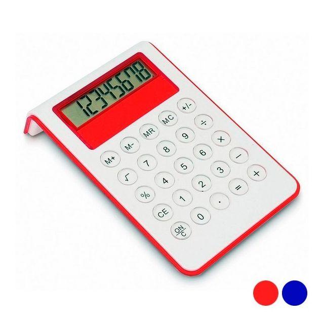 Totalcadeau Calculatrice bicolore fonctionnant à pile Couleur - Rouge