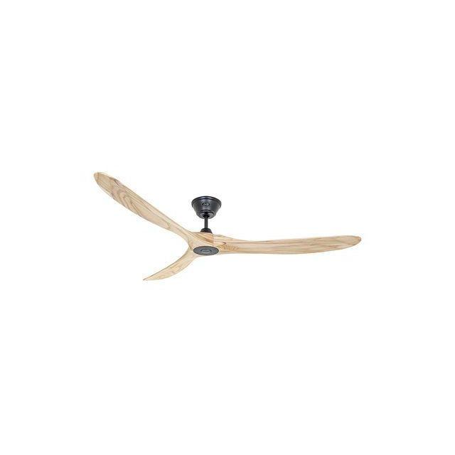 boutica design ventilateur de plafond eco genuino 180cm noir bois naturel casafan pas cher. Black Bedroom Furniture Sets. Home Design Ideas
