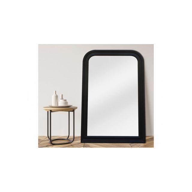 VENTE-UNIQUE Miroir CANDIDE - bois d'eucalyptus - 60 x 90 cm - Noir