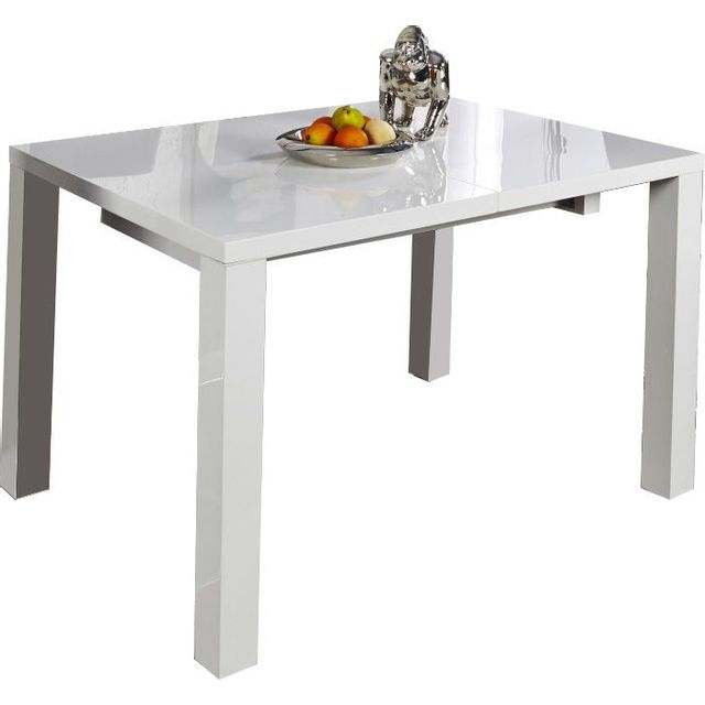 Comforium Table à manger blanche extensible design 200 cm