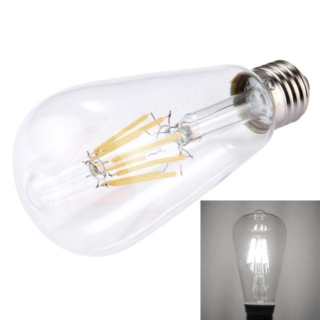 Shell E27 Blanche Transparent 8w Lm Retro Lumière 580 Économie Filament St64 Led Ampoule Pour 265v HallsAc D'énergie 8 85 Tl1FcKJ