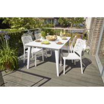 Table jardin blanche - catalogue 2019 - [RueDuCommerce - Carrefour]