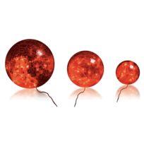 Blachereillumination - Lot de 3 Boules en Verre Rouge