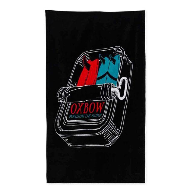 oxbow serviette de plage imprim e iquitos noir pas cher achat vente serviettes de bain. Black Bedroom Furniture Sets. Home Design Ideas