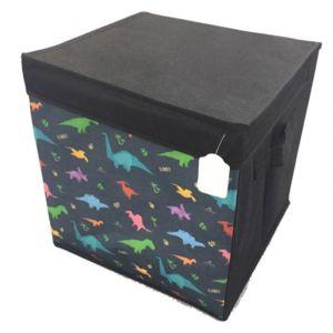 sans marque boite de rangement en toile avec couvercle dinosaures pas cher achat vente pot. Black Bedroom Furniture Sets. Home Design Ideas
