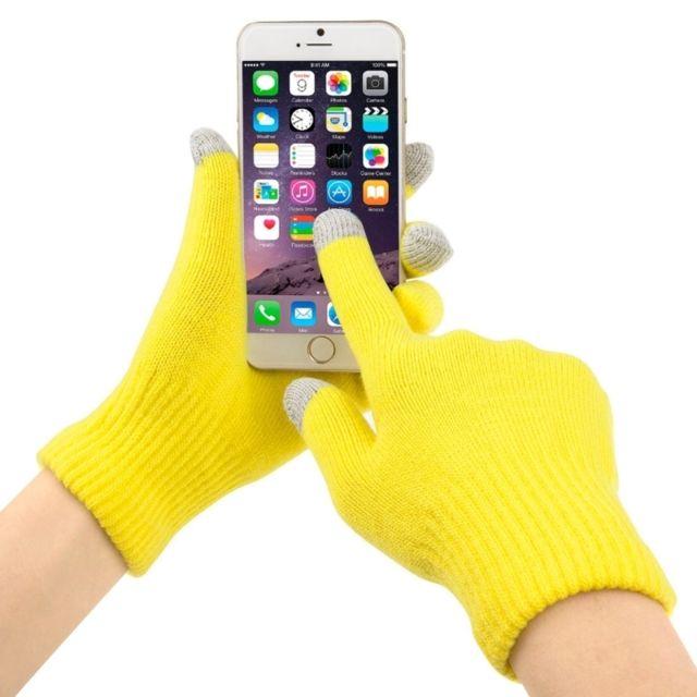 78a93b95bf70 Wewoo - Gants tactiles pour iPad jaune l pour iPhone, Galaxy, le Huawei,  Xiaomi, Htc, Sony, Lg et d autres dispositifs d écran tactile chauds  d hiver de ...