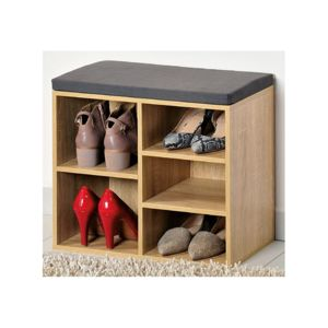 meuble chaussures d 39 int rieur banc en bois avec. Black Bedroom Furniture Sets. Home Design Ideas