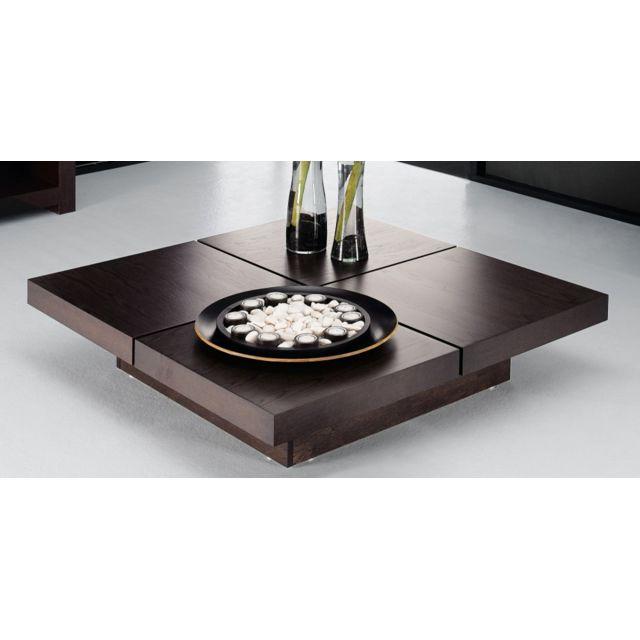 TemaHome - Kyoto table basse japonaise 4 plateaux chocolat - pas ...