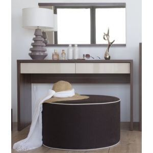 vox coiffeuse 2 tiroirs inbox noyer beige pas cher achat vente bureau rueducommerce. Black Bedroom Furniture Sets. Home Design Ideas