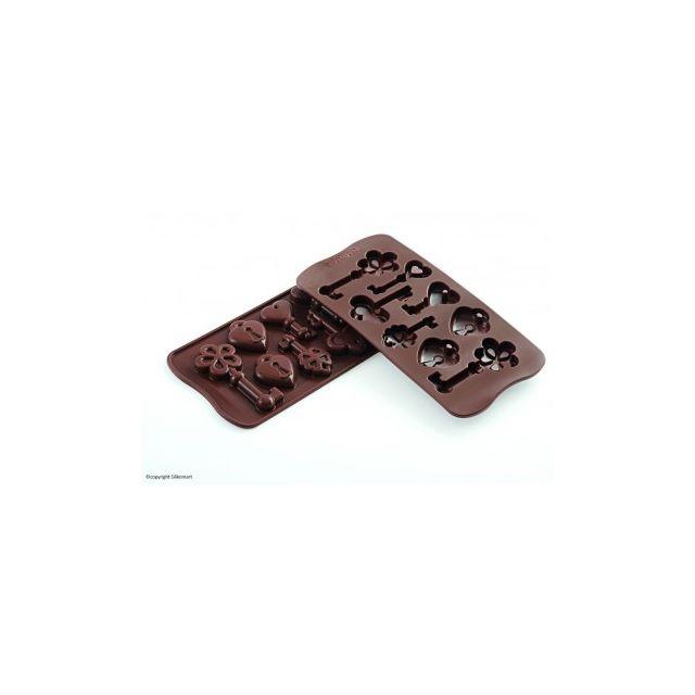 Silikomart Moule à chocolat spécial Clés et cadenas