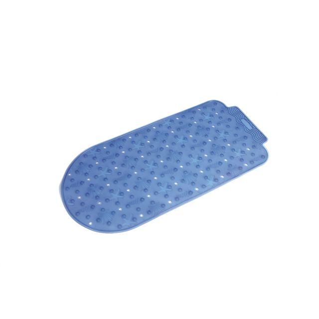 Carrefour Tapis De Bain Antiderapant Plastique 37 X 77 Cm Bleu