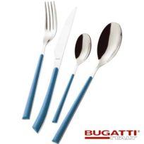 Bugatti Italy - Ménagère 24 pièces Bleu France - Stella couverts manche couleur, par Bugatti