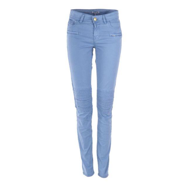 9463c64718224 Best Mountain - Pantalon en toile style biker femme - pas cher Achat /  Vente Pantalon femme - RueDuCommerce