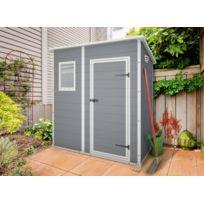 KETER - Premium 64 - Abri de jardin en résine - 2,04m² - Gris