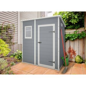 keter premium 64 abri de jardin en r sine 2 04m gris 1 183m x 200m x 111m pas cher. Black Bedroom Furniture Sets. Home Design Ideas