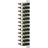 Visiorack - Support mural chromé pour 36 bouteilles de 75cl - Bouteilles horizontales - Chrome Aci-vis410