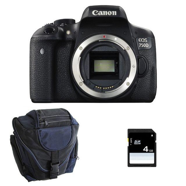 Canon Eos 750D nu Garanti 3 ans + Sac + Carte Sd 4Go