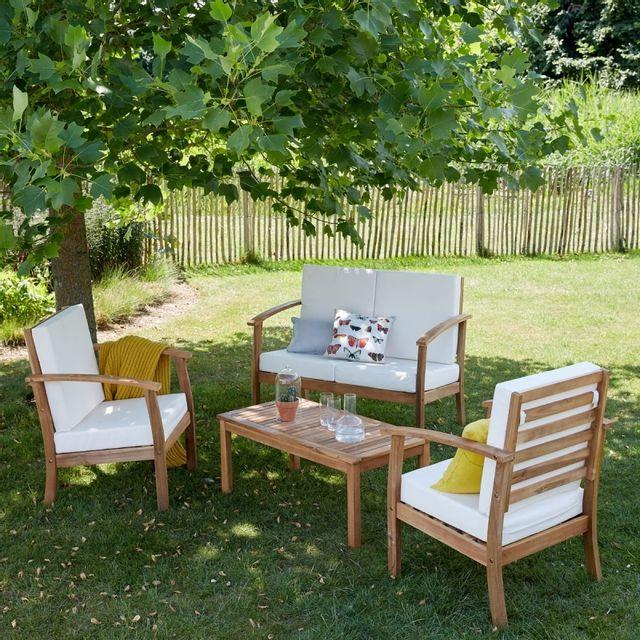Bois Dessus Bois Dessous - Salon de jardin en bois d\'acacia Fsc 4 ...