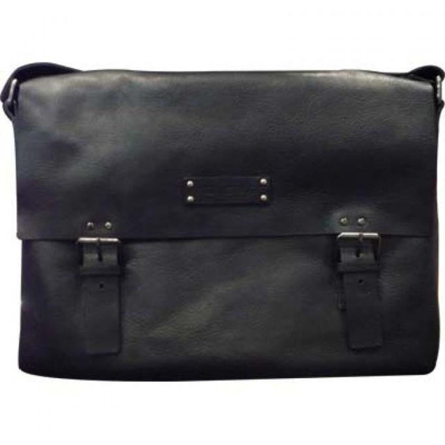Sacoche PAQUETAGE cuir noir A3zTc1
